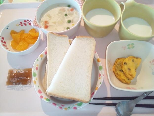 12月11日朝食(シーフードチャウダー) #病院食
