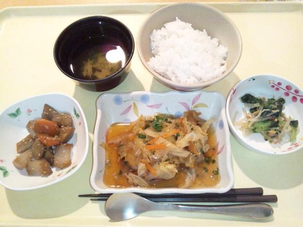 12月11日夕食(白身魚の野菜あんかけ) #病院食