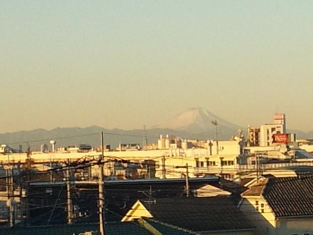 今朝の富士山は綺麗にスッキリ見えていました(ガラケー撮影) #富士山 #富士