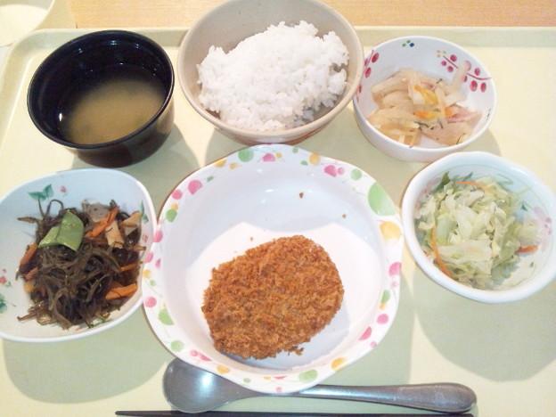 12月17日夕食(南瓜コロッケ) #病院食