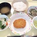 1月21日夕食(肉じゃがコロッケ) #病院食