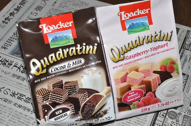 写真: Loacker Quadratini