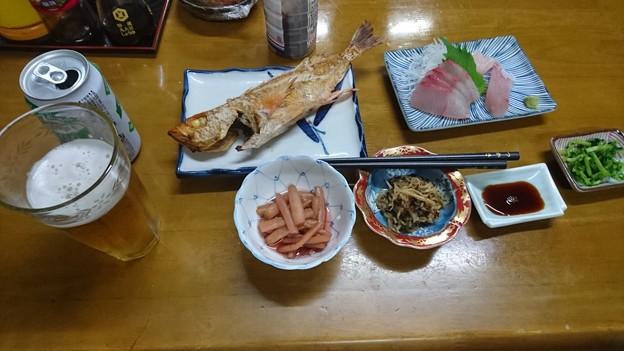 民宿つかさの夕飯
