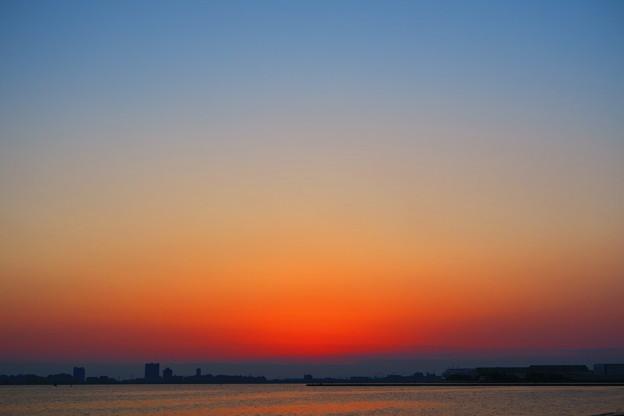 写真: 夕没後