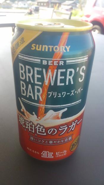 【今日の一献】東京都港区台場の、サントリービール サントリー ブリュワーズ・バー 琥珀色のラガー 深いコクと華やかな余韻 限定醸造 原材料名:麦芽、ホップ アルコール分5.5%。
