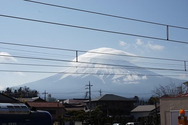 写真: 富士山戴帽