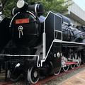 写真: 動けない機関車!