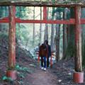 写真: 秋葉神社_2の鳥居_film-010022