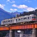 Photos: 大井川鐵道。。崎平の鉄橋を渡る元東急7200系