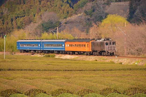 SLの後を追う臨時列車EL電気機関車。。