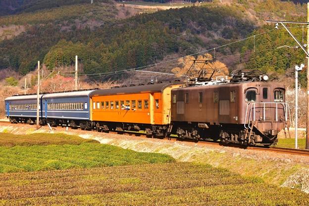 ダイナミックに走るEL電気機関車。。大井川鐵道