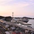 Photos: 夕暮れの横須賀基地。。護衛艦の港。。20170325
