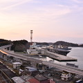 夕暮れの横須賀基地。。護衛艦の港。。20170325