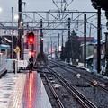 雨降りの箱根登山線入生田駅。。20170409