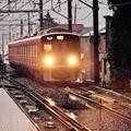 雨降りの入生田駅に入る箱根湯本行き電車 20170409
