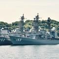 軍港めぐりに乗って。。吉倉桟橋 護衛艦やまぎりとゆうぎり 20170610