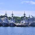 Photos: 軍港めぐりに乗って。。吉倉桟橋はいっぱいの艦船 20170610