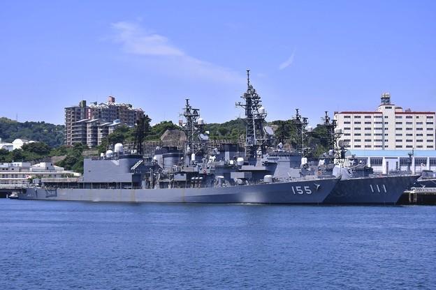 軍港めぐりに乗って。。吉倉桟橋 護衛艦はまぎりとおおなみ 20170610