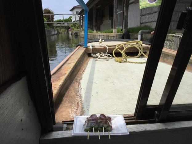 せっかくなのでお団子買って楽しむ。。渡瀬舟 20170611