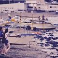 海開き前の由比ヶ浜。。デートで海見る 20170625