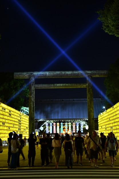 靖国神社 みたま祭り 鳥居 20170715