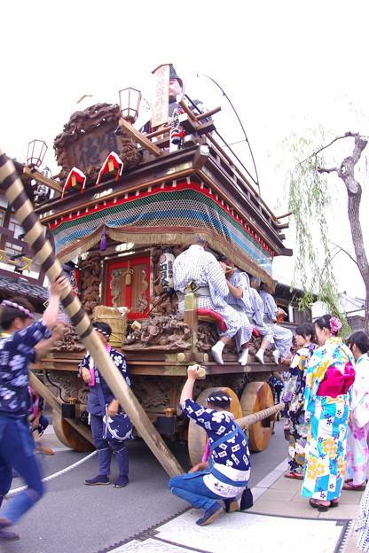 佐原の大祭 夏祭り 山車を動き出す。。20170716