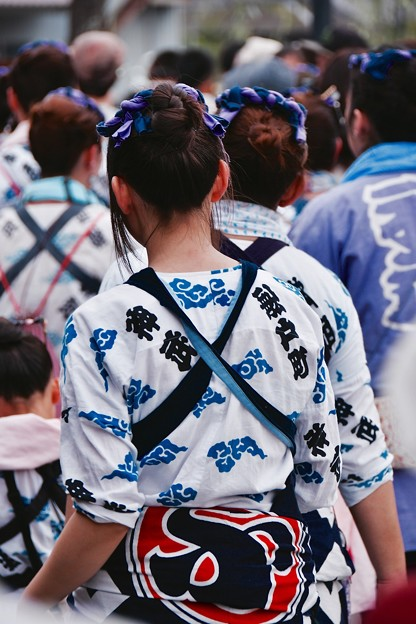 佐原の大祭 夏祭り カッコいい祭り姿の女性達。。(^^)20170716
