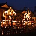 佐原の大祭夏祭り夜の運行開始山車たち。。(^^)20170716