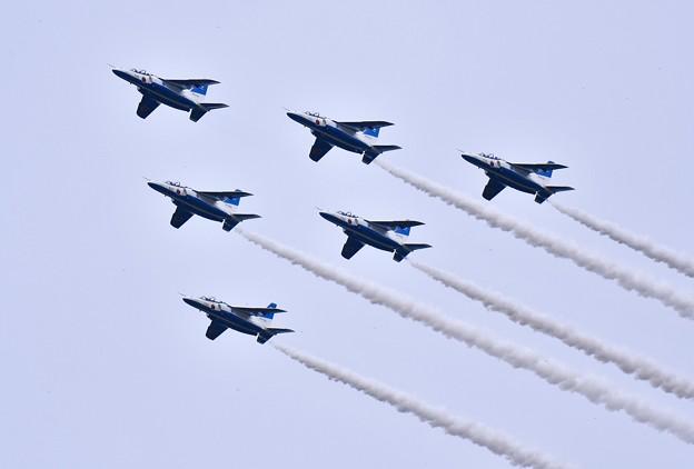 ブルーインパルス予行練習。。編隊飛行デルタ 20170722