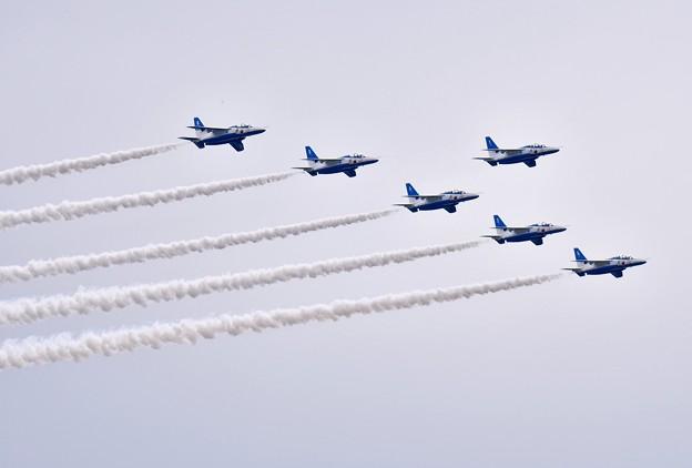 ブルーインパルス予行練習。。編隊飛行リーダーズベネフィット 20170722