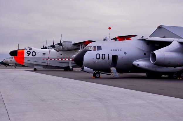 朝の千歳基地航空祭。。最初最後のツーショット