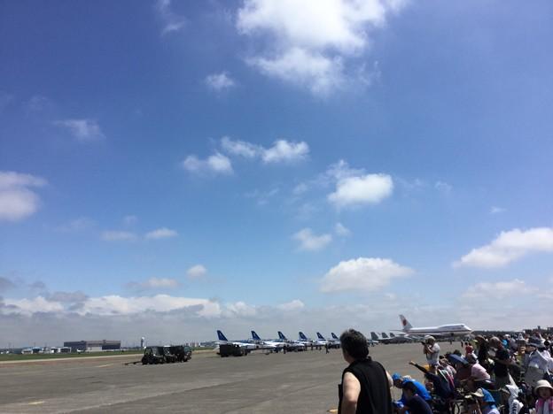 千歳基地航空祭。。ブルーインパルスには最高コンディションだったが。。(^_^;)