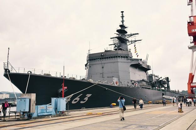米海軍横須賀基地にいる掃海母艦うらが。。艦船見学 20170805