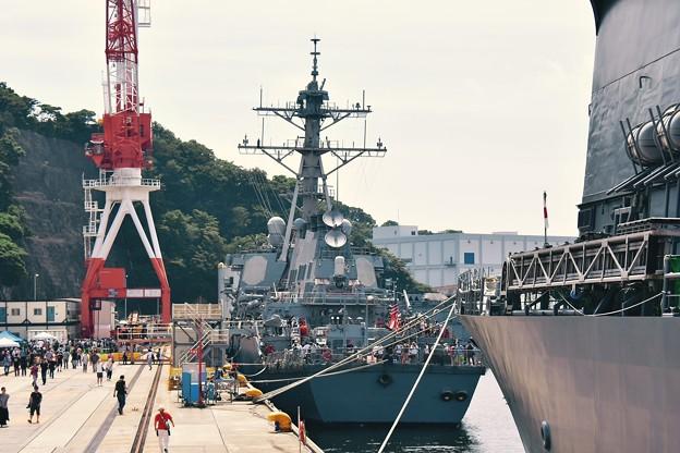 乗り込み掃海母艦うらがから米海軍ベンフォールドを見て。。20170805