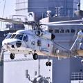 試験艦あすかバックにSH-60ヘリパットから上がり 20170805