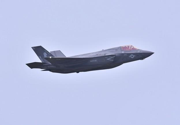 撮って出し。。航空祭の余韻冷めず 岩国へ帰投コンバットのF-35B 上がり 9月11日