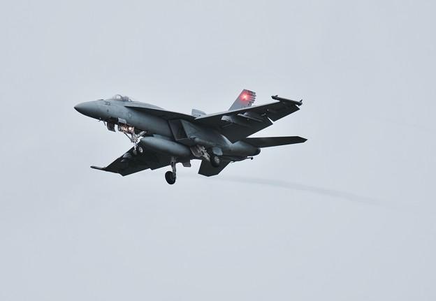 ある日の雨の中の厚木基地。。ローカルから帰投VFA-115eagles タロンNF301エスケイプ。。(^^)。。20170816