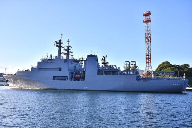 三連休の最後は横須賀基地。。呉の珍しい敷設艦むろと 9月18日