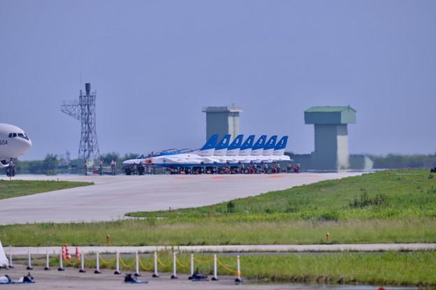 復興航空祭の予行は東松島夏まつりでの展示飛行 20170826