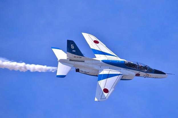 写真: 青い空の東松島市の上空。。東松島夏まつり