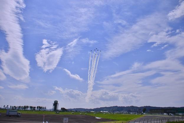 松島基地上空をフェニックス隊形で。。(^^)