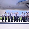 写真: 松島基地へ来ていた未来のパイロット?(^^)航空学生たち。。帰路へ