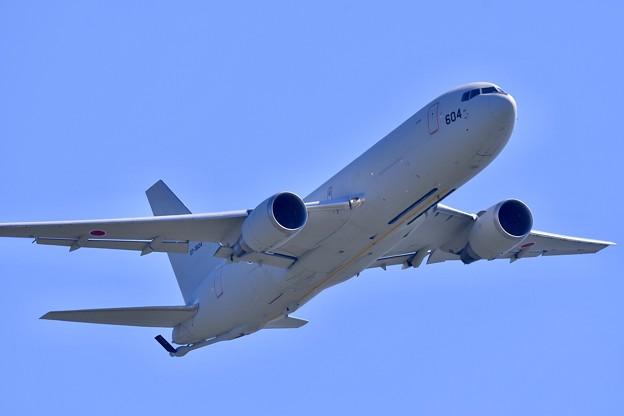 航空学生を乗せて最後のフライバイしてくれたKC-767。。松島基地復興航空祭
