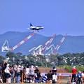 松島基地復興航空祭最後の降り。。ブルーインパルス
