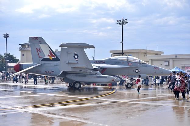 三沢基地航空祭。。来たばかりの初公開VAQ-134ガルーダス色付き NL530 20170910