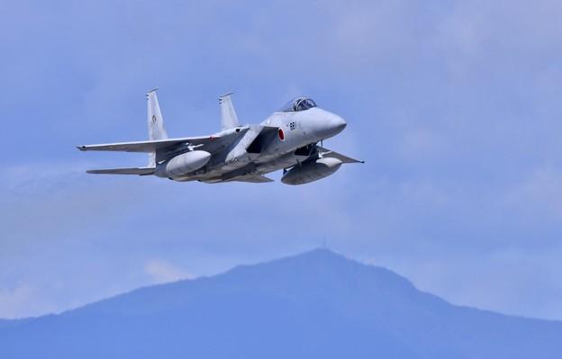 三沢基地航空祭。。千歳からリモートで登場第201飛行隊F-15