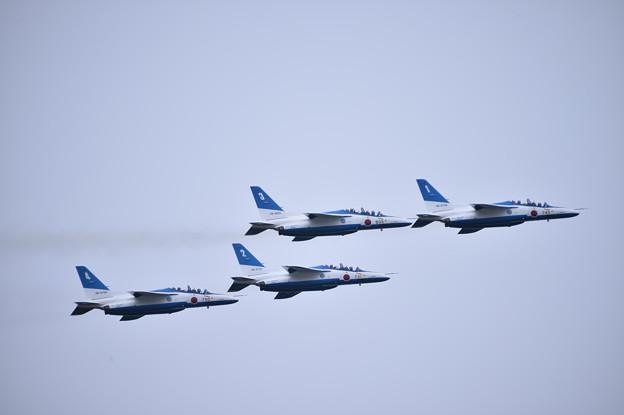 航空祭終えて翌日。。松島へ帰投ブルーインパルス4機上がり(2)