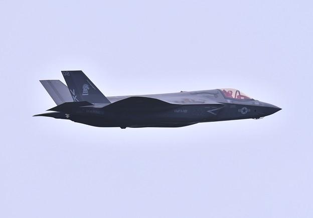 航空祭終えて翌日。。三沢から飛び立つF-35B VK02 (2)