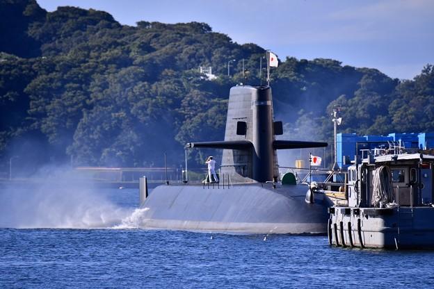 横須賀 軍港の町の風景。。海上自衛隊潜水艦 20170918