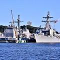 第7艦隊米軍横須賀基地ミサイル巡洋艦チャンセラーズビル ミサイル駆逐艦マッキャンベル 20170918